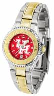 Houston Cougars Competitor Two-Tone AnoChrome Women's Watch