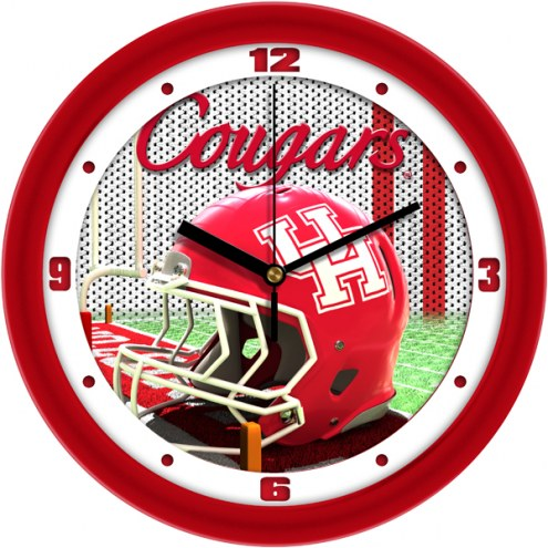 Houston Cougars Football Helmet Wall Clock