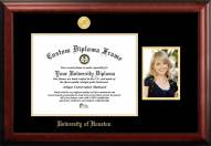 Houston Cougars Gold Embossed Diploma Frame with Portrait