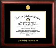 Houston Cougars Gold Embossed Diploma Frame