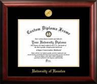 Houston Cougars Gold Embossed Diploma Frame