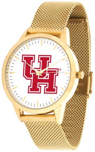 Houston Cougars Gold Mesh Statement Watch