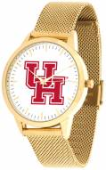 Houston Cougars Gold Mesh Statement Watch