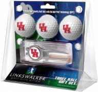 Houston Cougars Golf Ball Gift Pack with Kool Tool