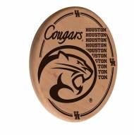 Houston Cougars Laser Engraved Wood Sign