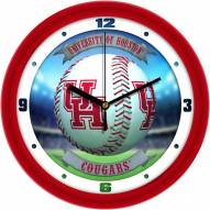 Houston Cougars Home Run Wall Clock