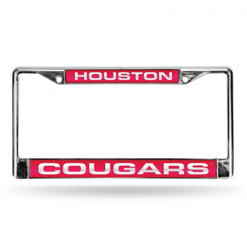Houston Cougars Laser Chrome License Plate Frame