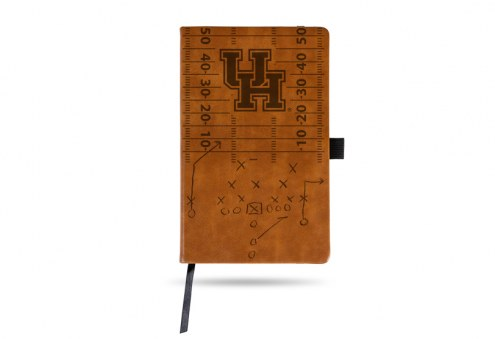 Houston Cougars Laser Engraved Brown Notepad