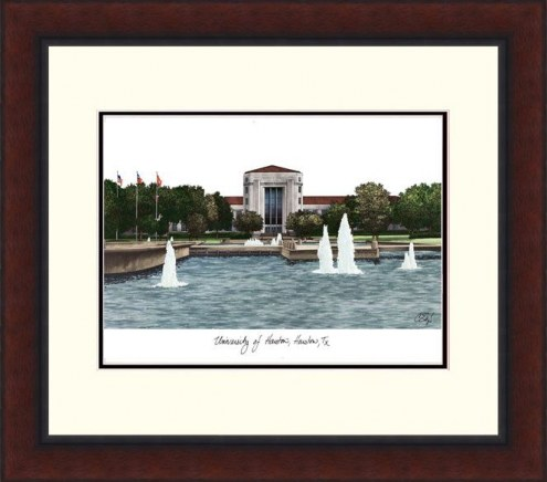 Houston Cougars Legacy Alumnus Framed Lithograph