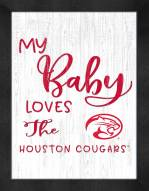 Houston Cougars My Baby Loves Framed Print