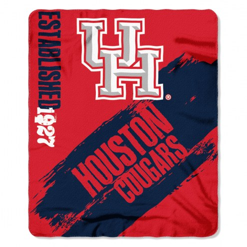 Houston Cougars Painted Fleece Blanket