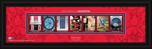 Houston Cougars Personalized Campus Letter Art