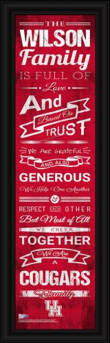 Houston Cougars Personalized Family Cheer Framed Art