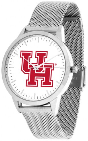 Houston Cougars Silver Mesh Statement Watch