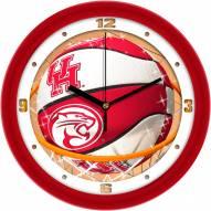 Houston Cougars Slam Dunk Wall Clock
