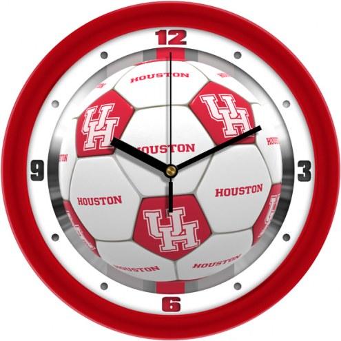 Houston Cougars Soccer Wall Clock