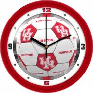 Houston Cougars Soccer Wall Clock