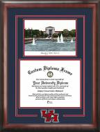 Houston Cougars Spirit Diploma Frame with Campus Image