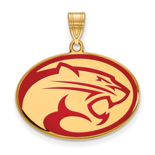 Houston Cougars Sterling Silver Gold Plated Large Enameled Pendant
