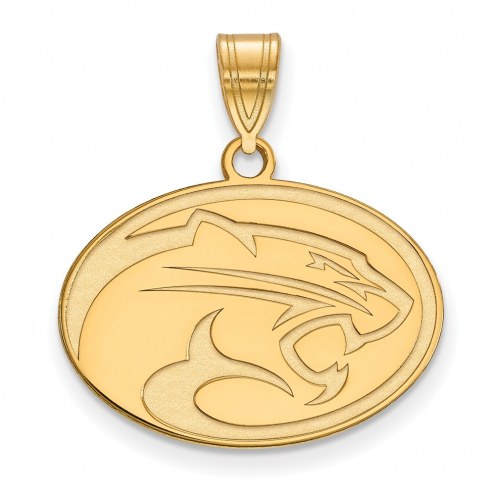 Houston Cougars Sterling Silver Gold Plated Medium Pendant
