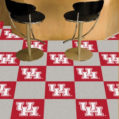 Houston Cougars Team Carpet Tiles
