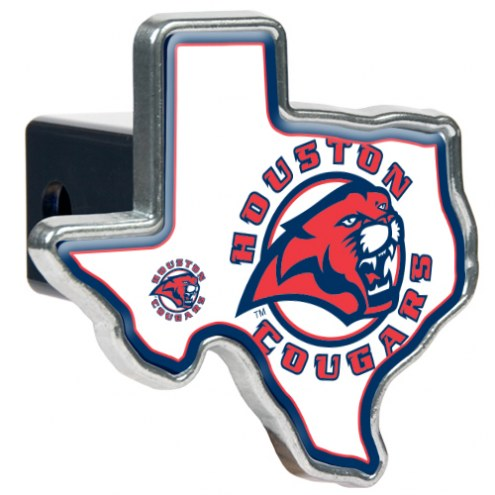 Houston Cougars Texas Shaped Trailer Hitch Cover