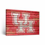 Houston Cougars Weathered Canvas Wall Art