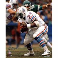 """Houston Oilers Earl Campbell Running White Jersey Signed 16"""" x 20"""" Photo"""