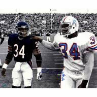 """Houston Oilers Earl Campbell Walking With Walter Payton w/ HOF Signed 16"""" x 20"""" Photo"""