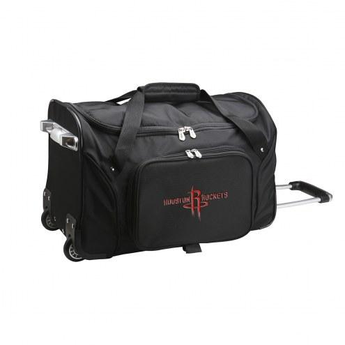 "Houston Rockets 22"" Rolling Duffle Bag"
