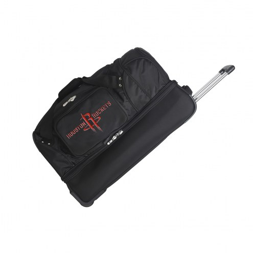 "Houston Rockets 27"" Drop Bottom Wheeled Duffle Bag"