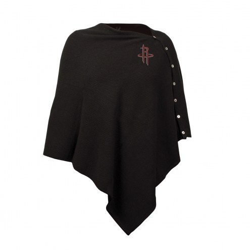 Houston Rockets Black Out Button Poncho