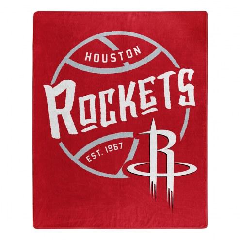 Houston Rockets Blacktop Raschel Throw Blanket