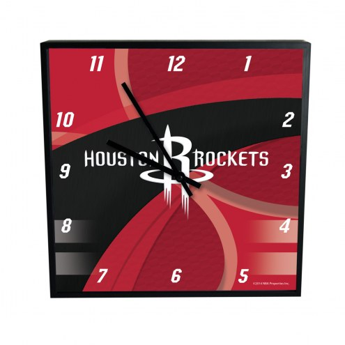 Houston Rockets Carbon Fiber Square Clock