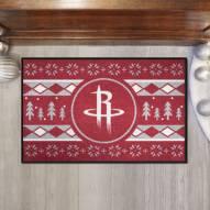 Houston Rockets Christmas Sweater Starter Rug