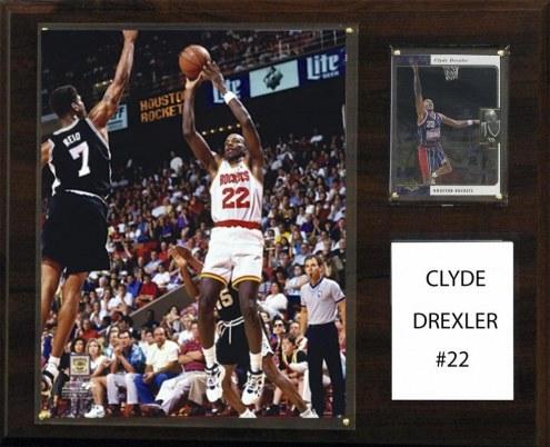 "Houston Rockets Clyde Drexler 12"" x 15"" Player Plaque"