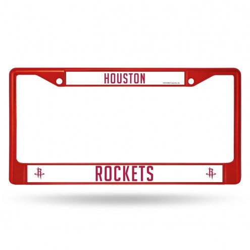 Houston Rockets Colored Chrome License Plate Frame