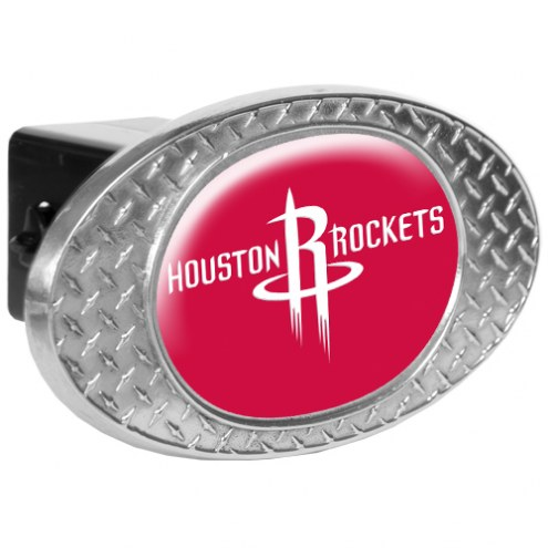 Houston Rockets Metal Diamond Plate Trailer Hitch Cover