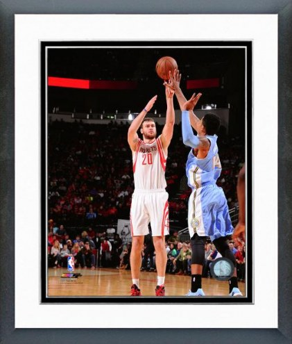 Houston Rockets Donatas Motiejunas Action Framed Photo