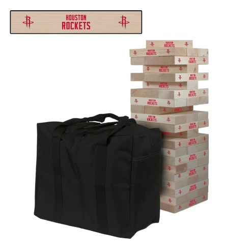 Houston Rockets Giant Wooden Tumble Tower Game