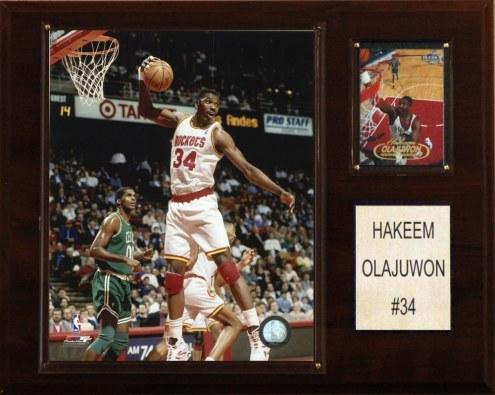 "Houston Rockets Hakeem Olajuwon 12"" x 15"" Player Plaque"