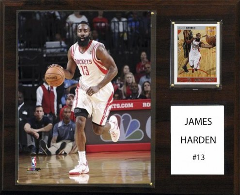 "Houston Rockets James Harden 12"" x 15"" Player Plaque"
