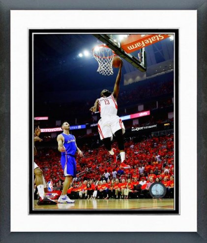 Houston Rockets James Harden Playoff Action Framed Photo