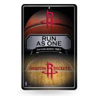 Houston Rockets Large Embossed Metal Wall Sign