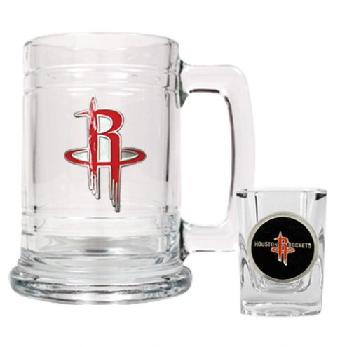 Houston Rockets NBA Boilermaker Set - Shot Glass & Tankard Mug