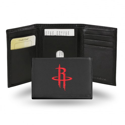 Houston Rockets NBA Embroidered Leather Tri-Fold Wallet
