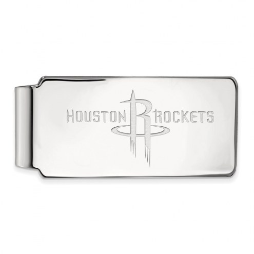 Houston Rockets Sterling Silver Money Clip
