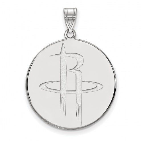 Houston Rockets Sterling Silver Extra Large Pendant