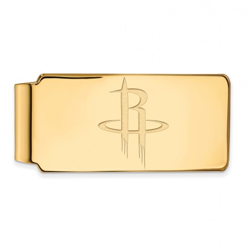 Houston Rockets Sterling Silver Gold Plated Money Clip