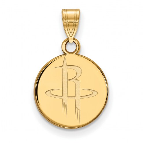 Houston Rockets Sterling Silver Gold Plated Small Pendant